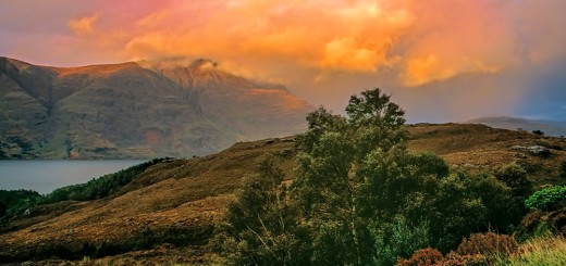 Liathach after autumn shower